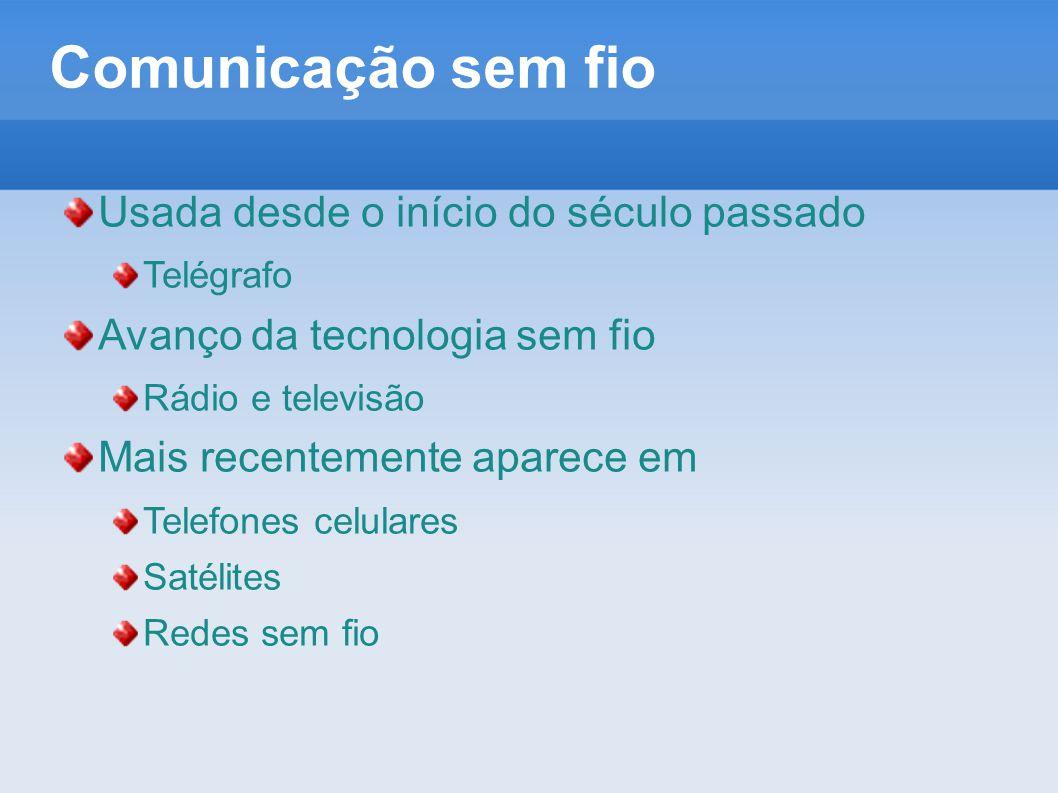 Comunicação sem fio Usada desde o início do século passado