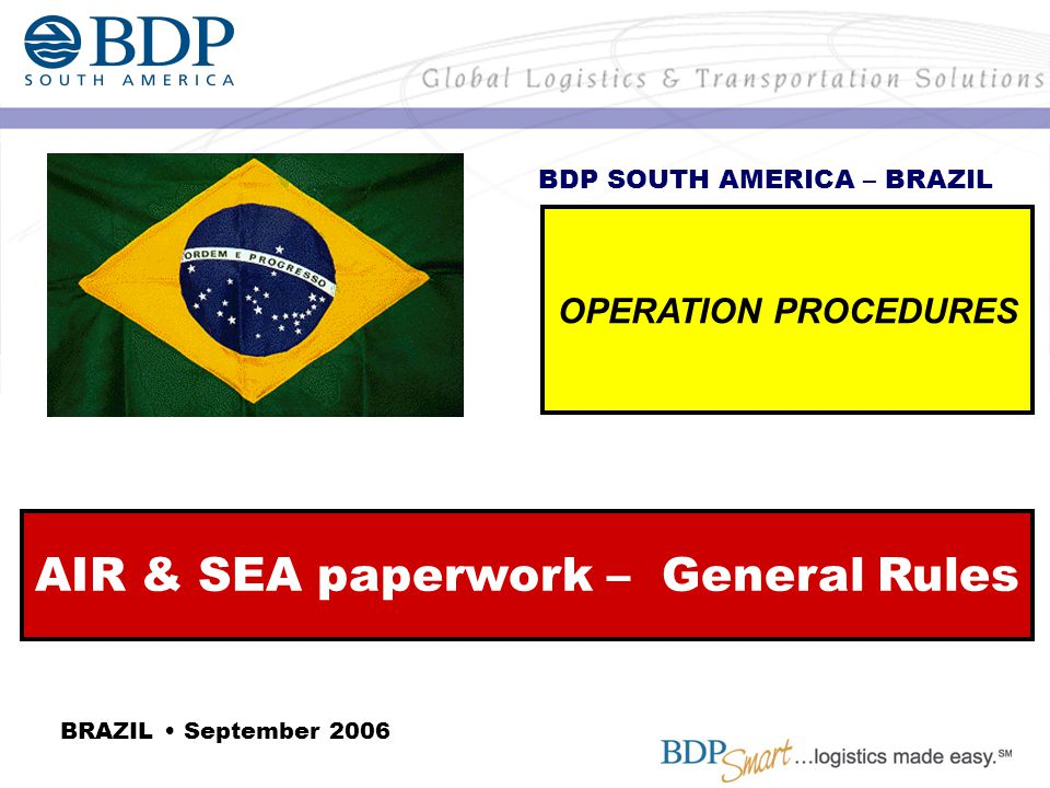 AIR & SEA paperwork – General Rules