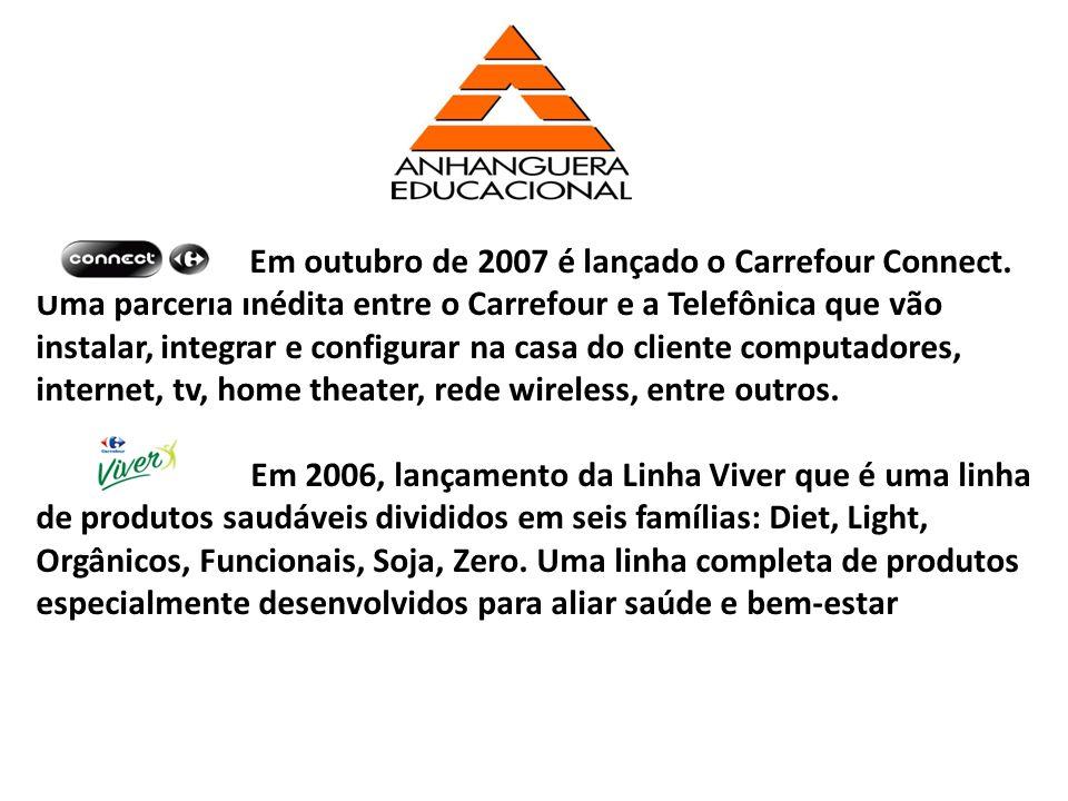 Em outubro de 2007 é lançado o Carrefour Connect