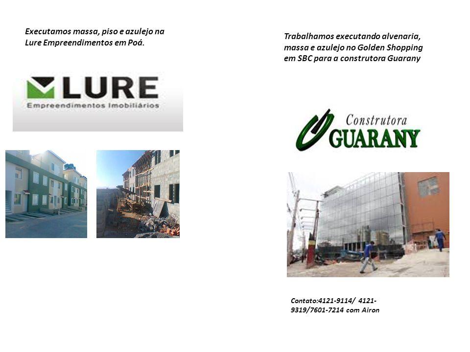 Executamos massa, piso e azulejo na Lure Empreendimentos em Poá.