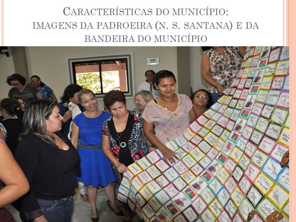Características do município: imagens da padroeira (n. s