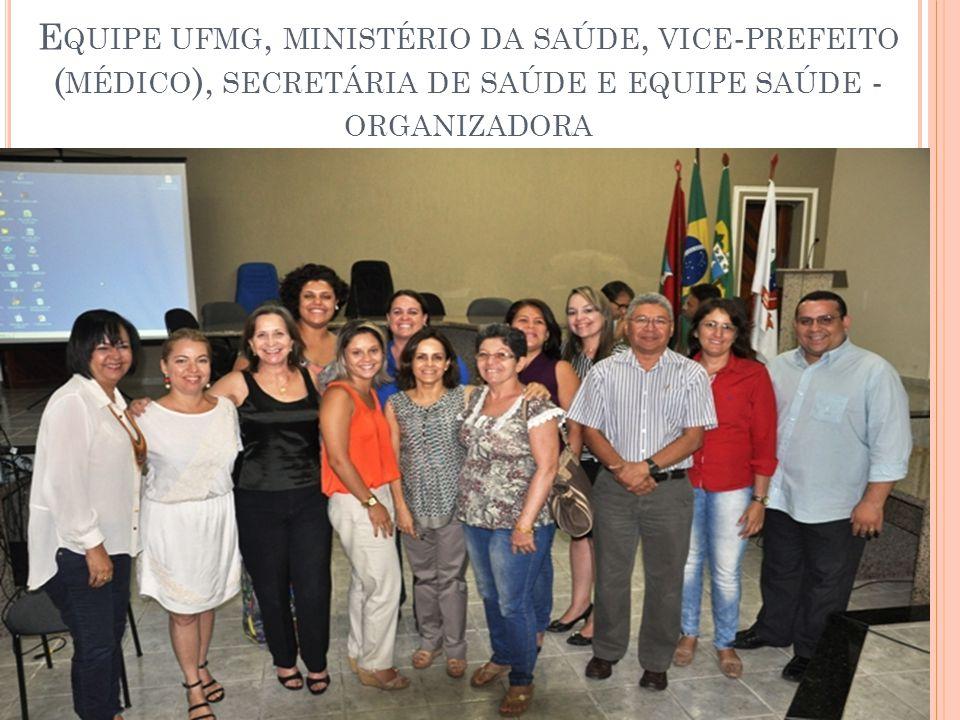 Equipe ufmg, ministério da saúde, vice-prefeito (médico), secretária de saúde e equipe saúde - organizadora
