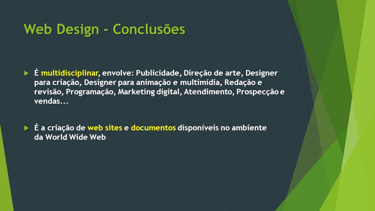 Web Design - Conclusões