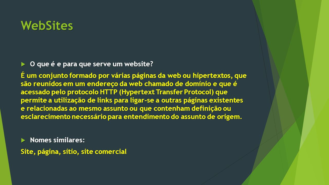 WebSites O que é e para que serve um website