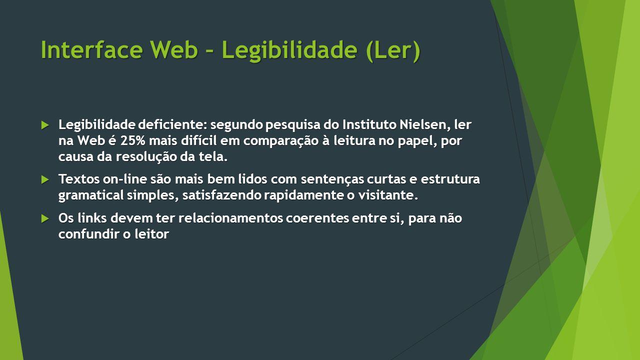 Interface Web – Legibilidade (Ler)