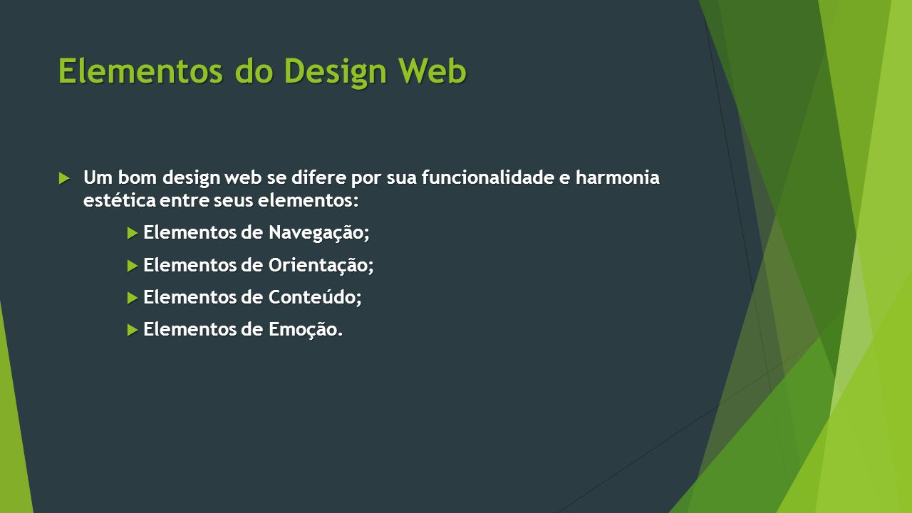 Elementos do Design Web