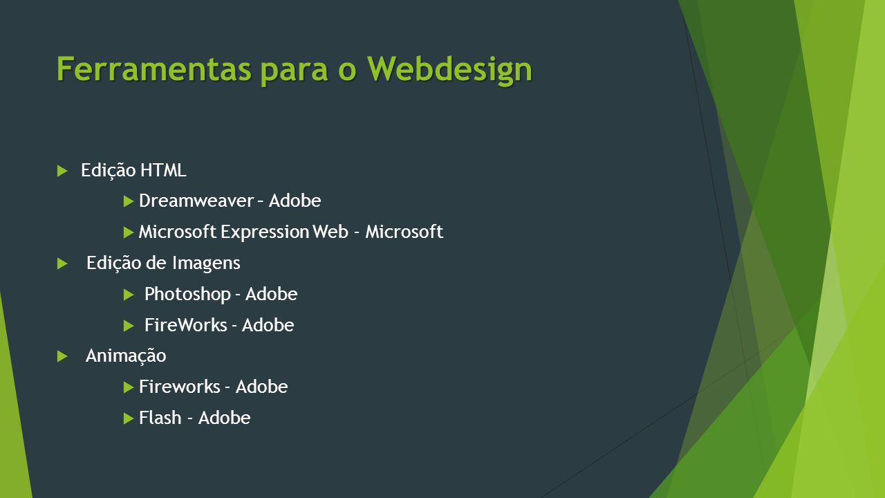 Ferramentas para o Webdesign