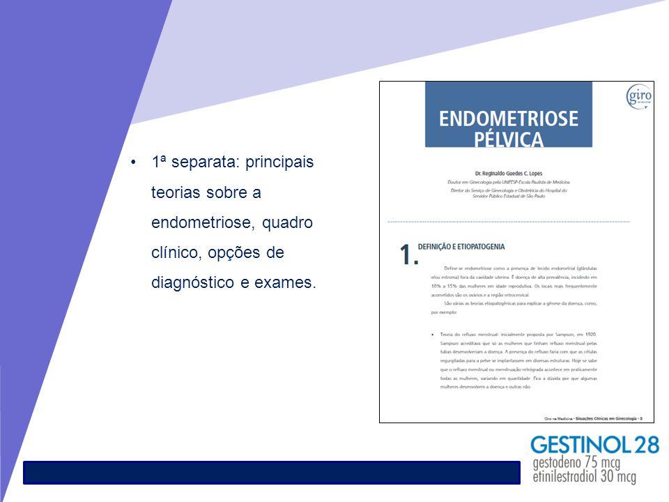 1ª separata: principais teorias sobre a endometriose, quadro clínico, opções de diagnóstico e exames.