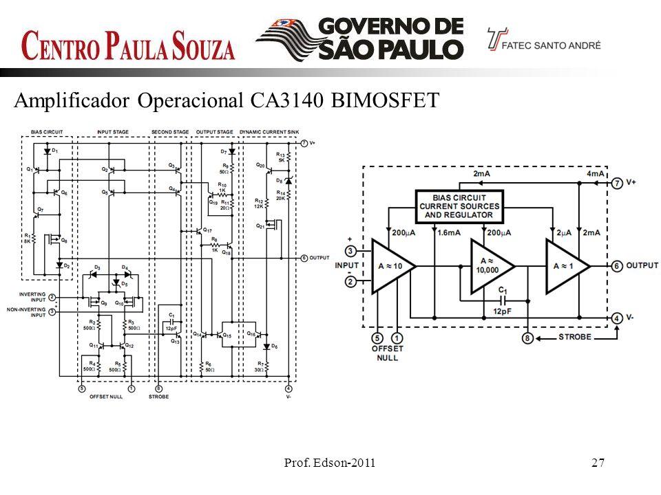 Amplificador Operacional CA3140 BIMOSFET