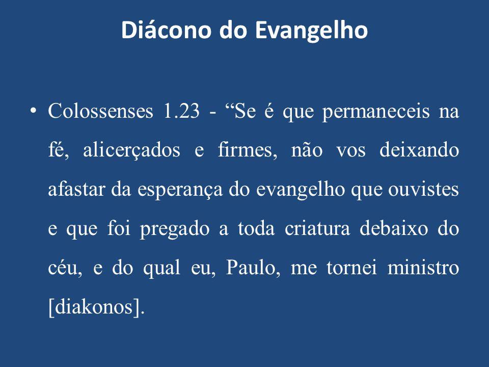 Diácono do Evangelho