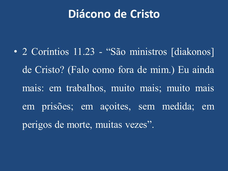 Diácono de Cristo