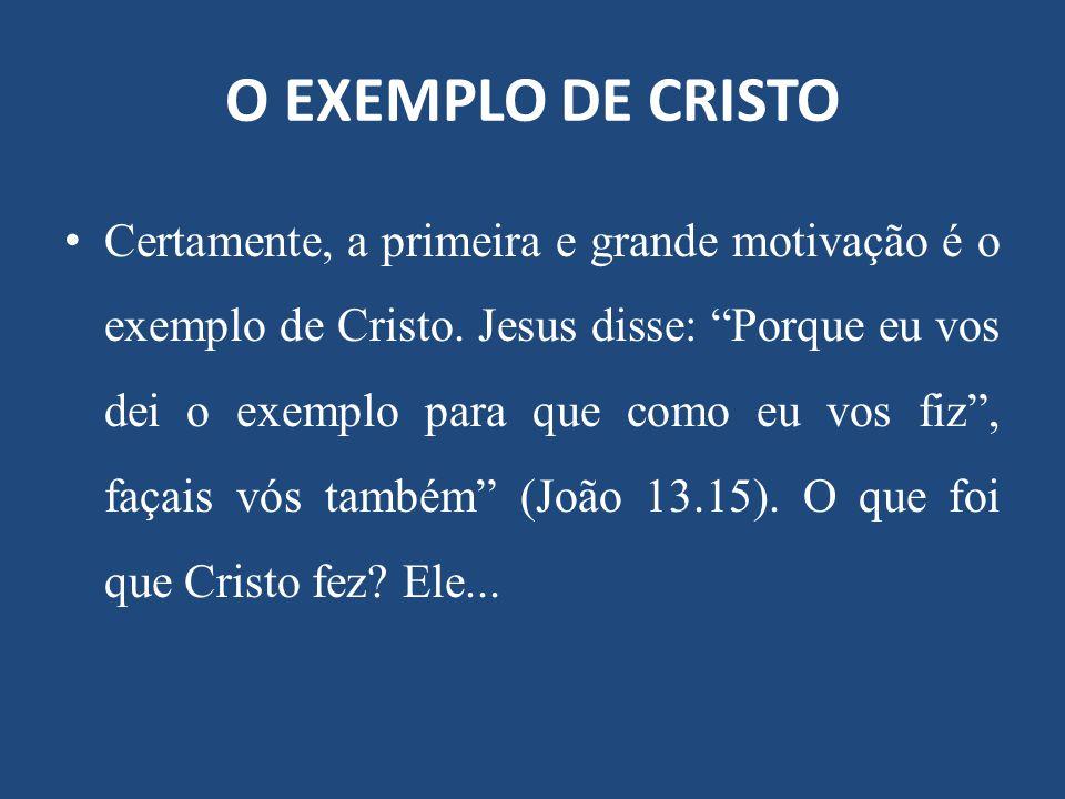 O EXEMPLO DE CRISTO