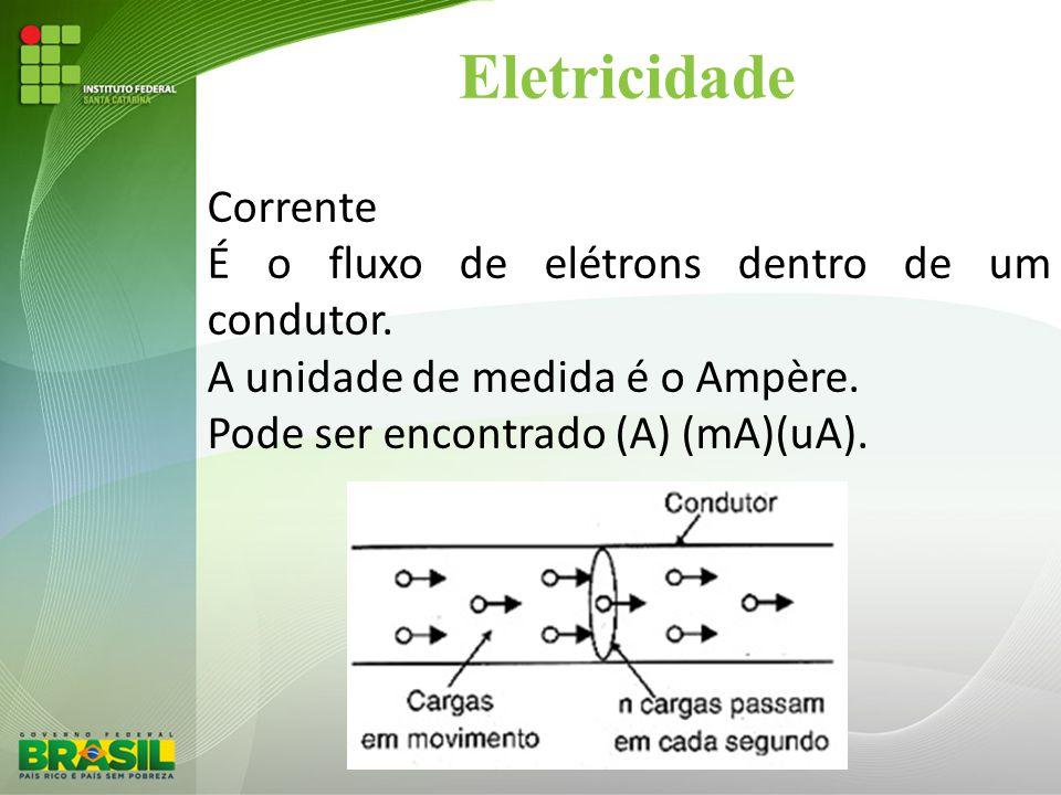 Eletricidade Corrente É o fluxo de elétrons dentro de um condutor.