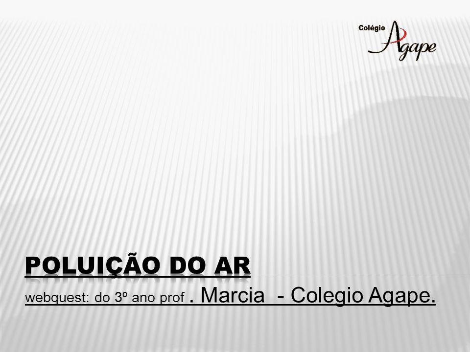 webquest: do 3º ano prof . Marcia - Colegio Agape.