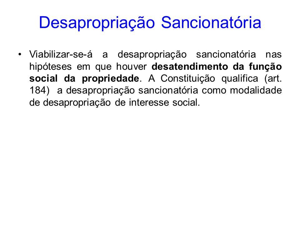 Desapropriação Sancionatória