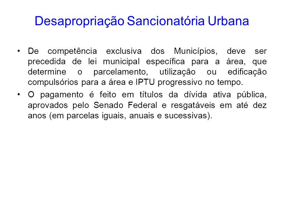 Desapropriação Sancionatória Urbana