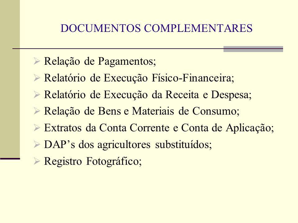 DOCUMENTOS COMPLEMENTARES