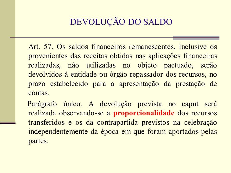 DEVOLUÇÃO DO SALDO