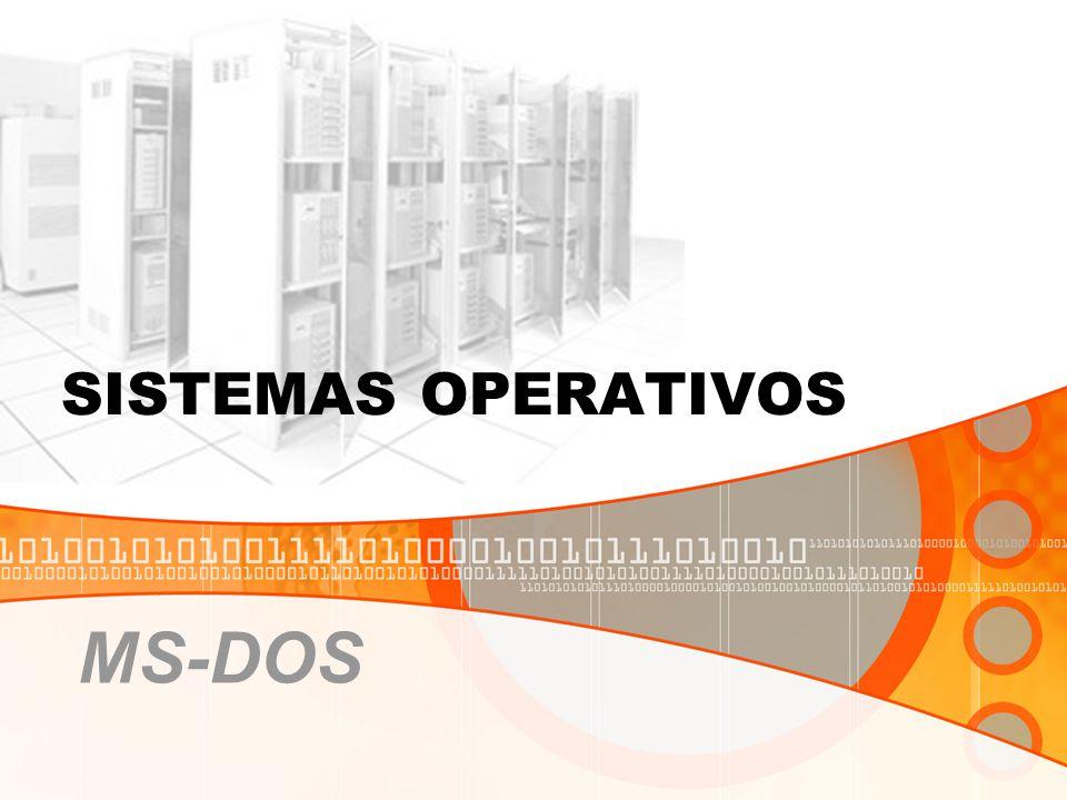 SISTEMAS OPERATIVOS MS-DOS
