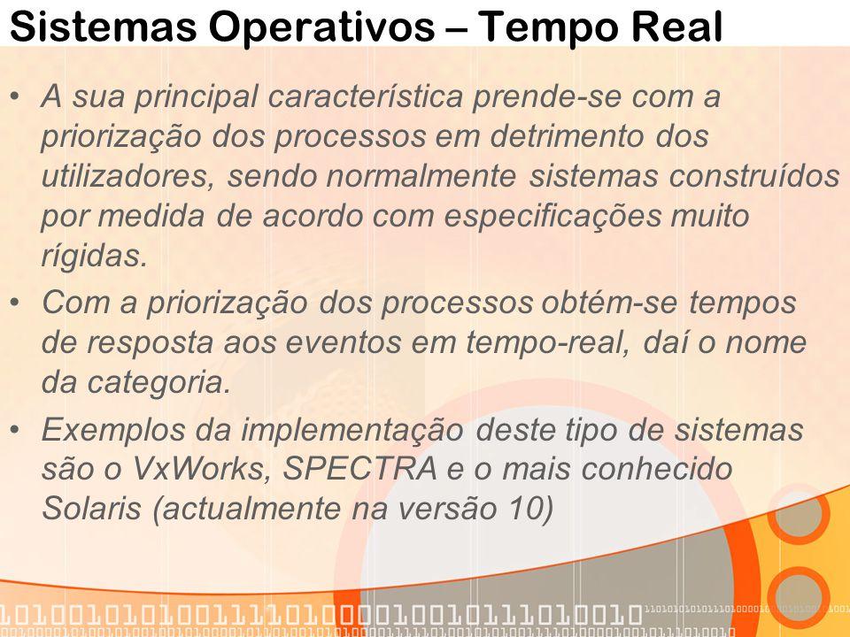 Sistemas Operativos – Tempo Real