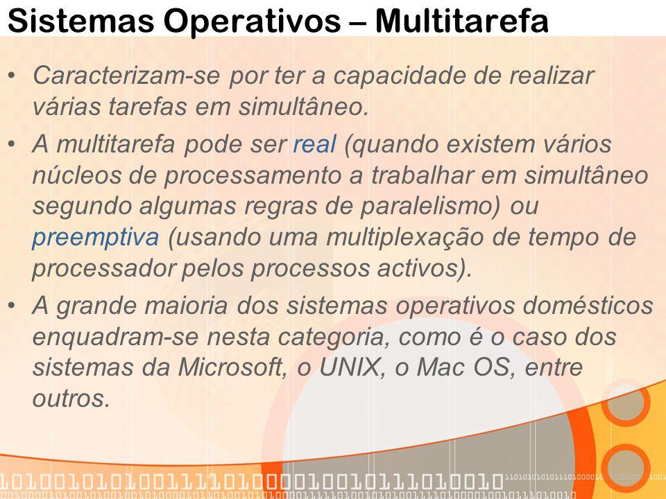Sistemas Operativos – Multitarefa
