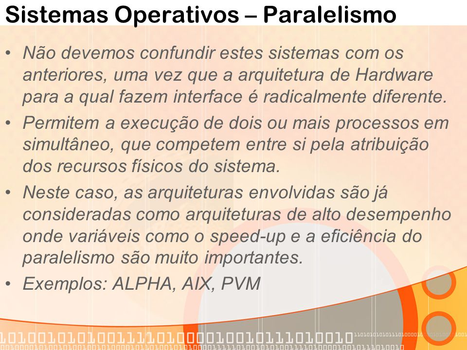 Sistemas Operativos – Paralelismo