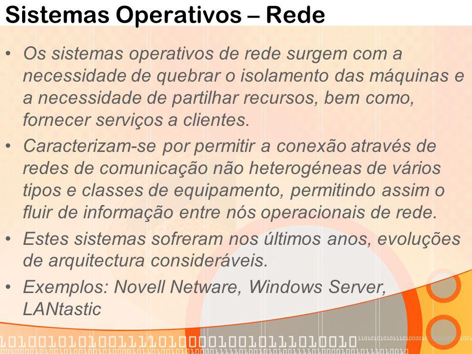 Sistemas Operativos – Rede