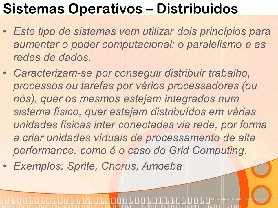Sistemas Operativos – Distribuidos