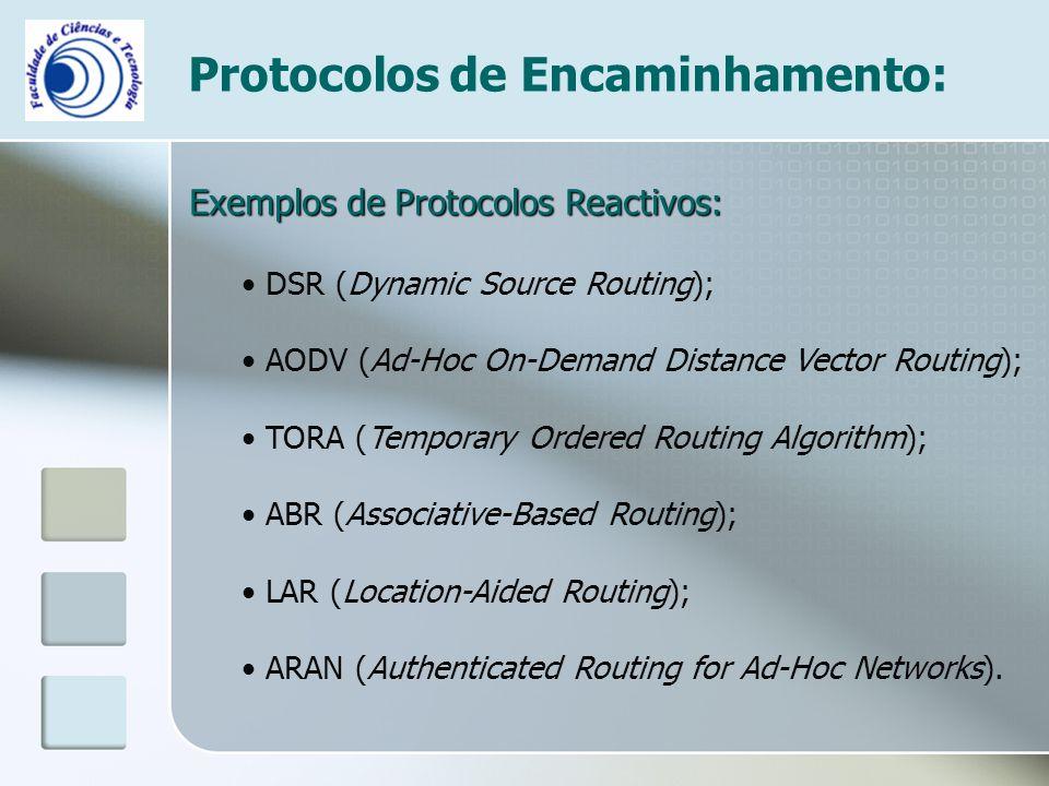 Protocolos de Encaminhamento: