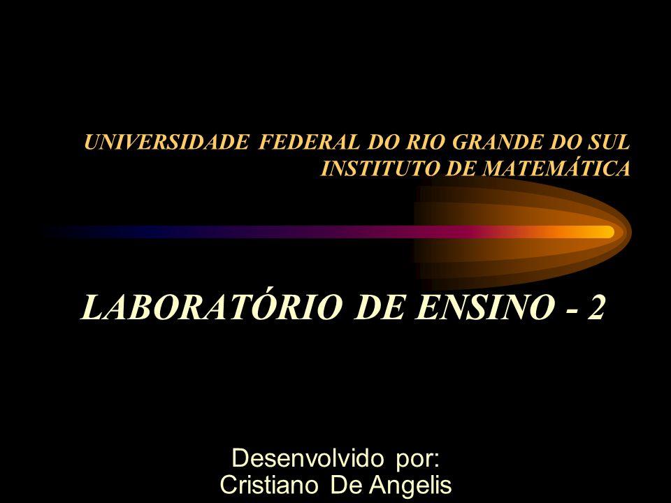 UNIVERSIDADE FEDERAL DO RIO GRANDE DO SUL INSTITUTO DE MATEMÁTICA