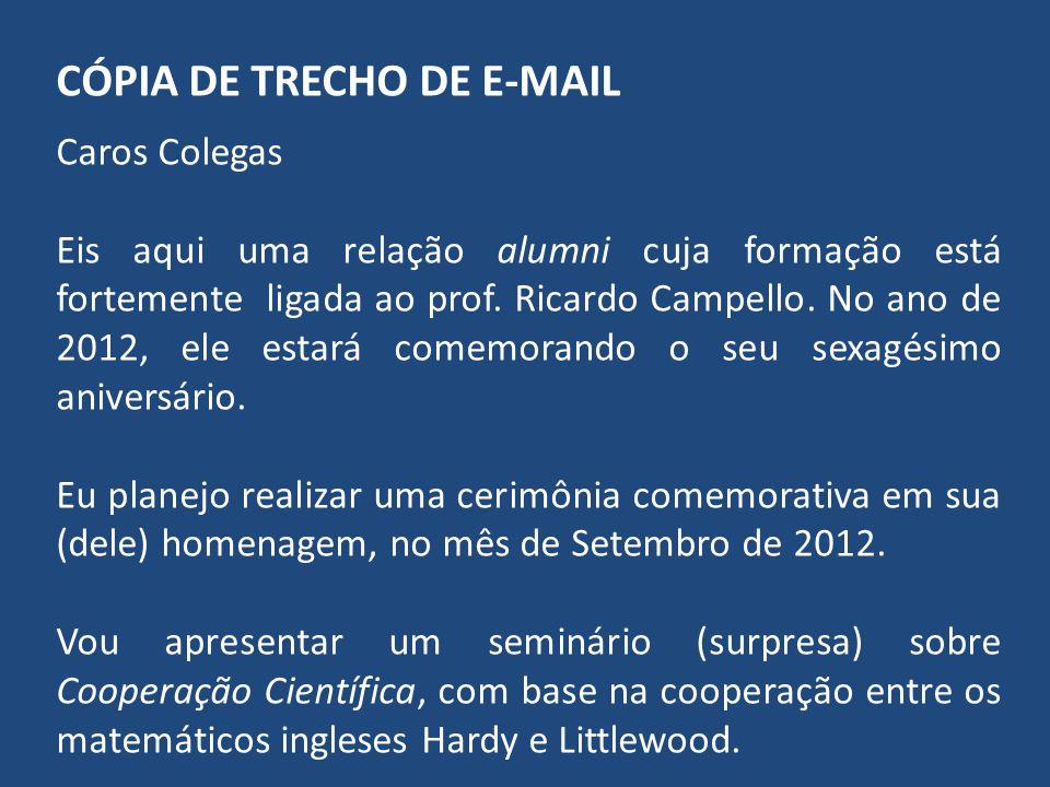 CÓPIA DE TRECHO DE E-MAIL