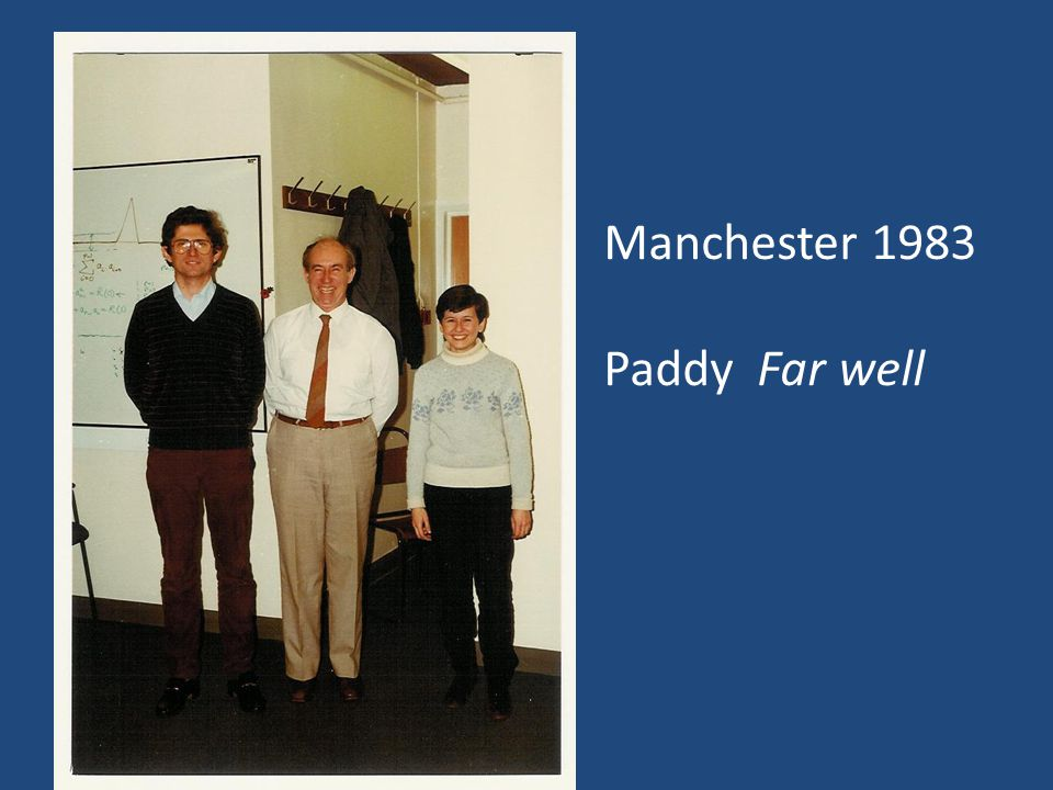 Manchester 1983 Paddy Far well