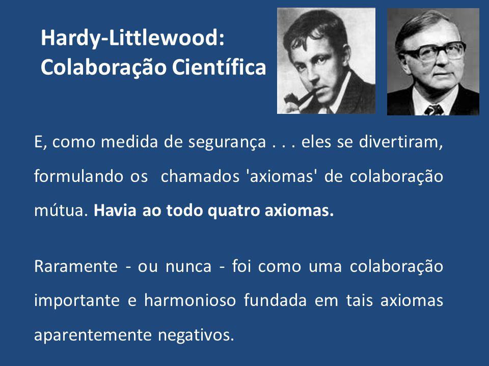 Hardy-Littlewood: Colaboração Científica