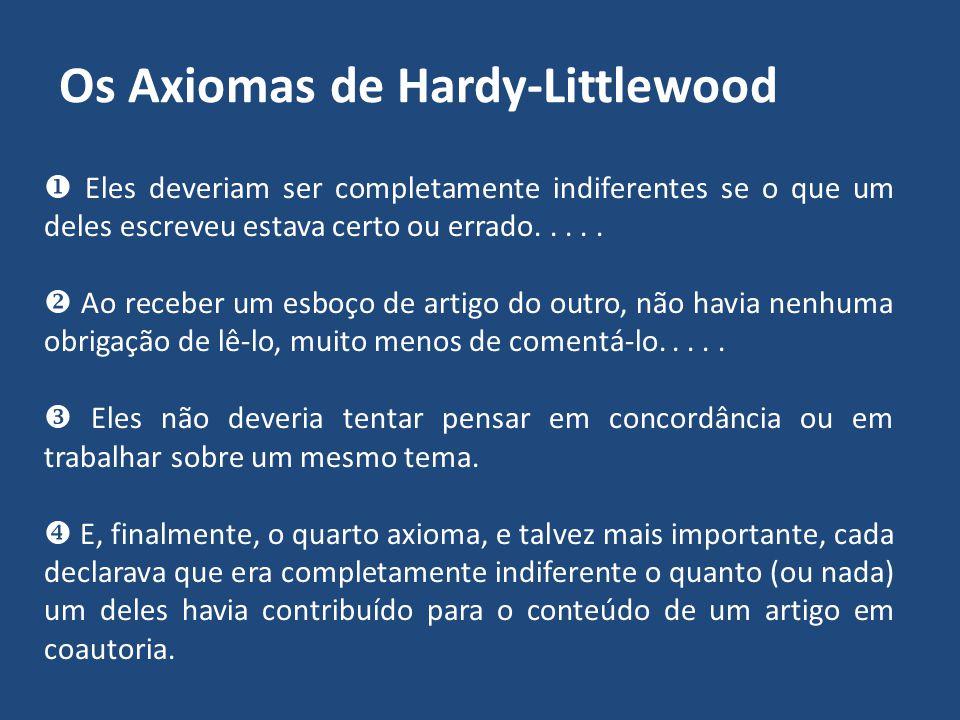 Os Axiomas de Hardy-Littlewood