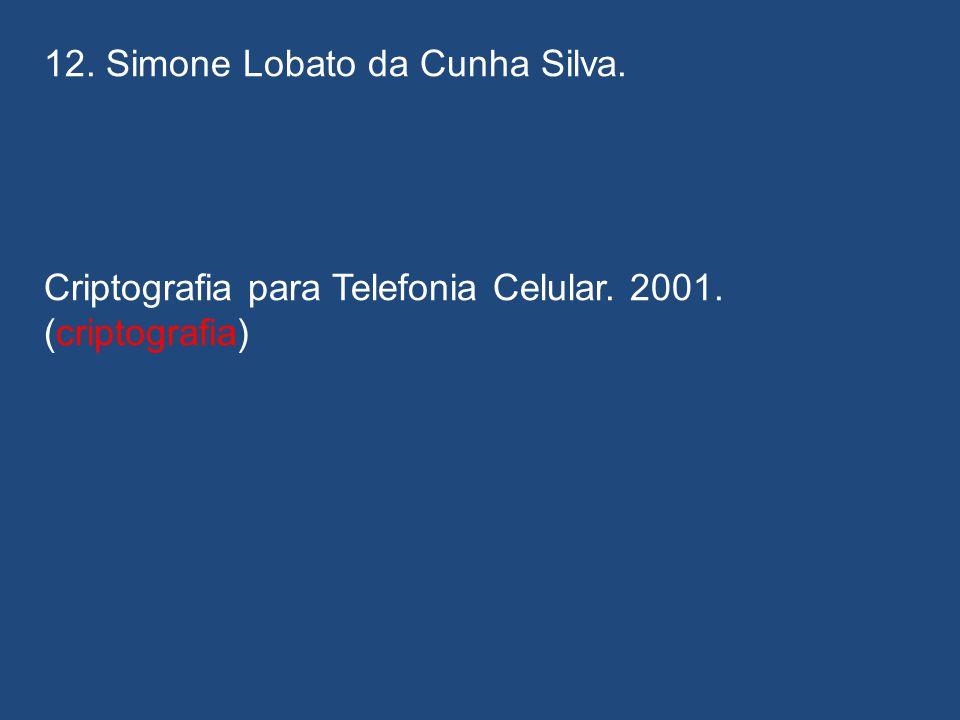 12. Simone Lobato da Cunha Silva.