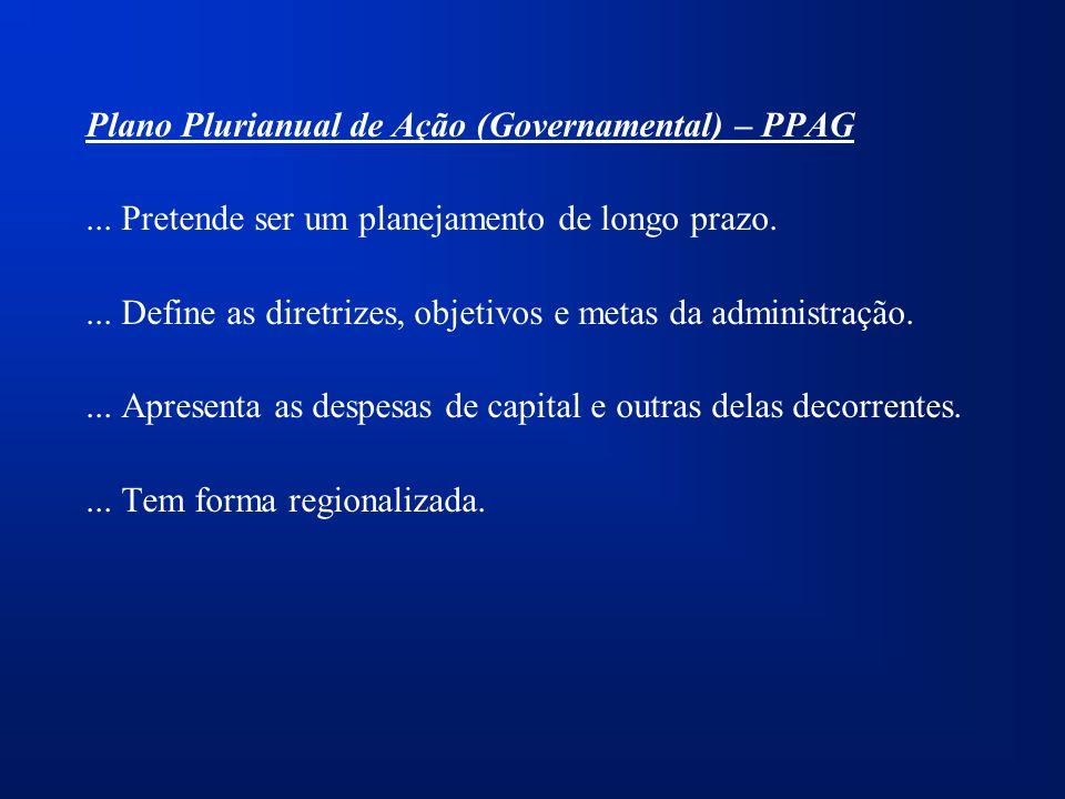 Plano Plurianual de Ação (Governamental) – PPAG