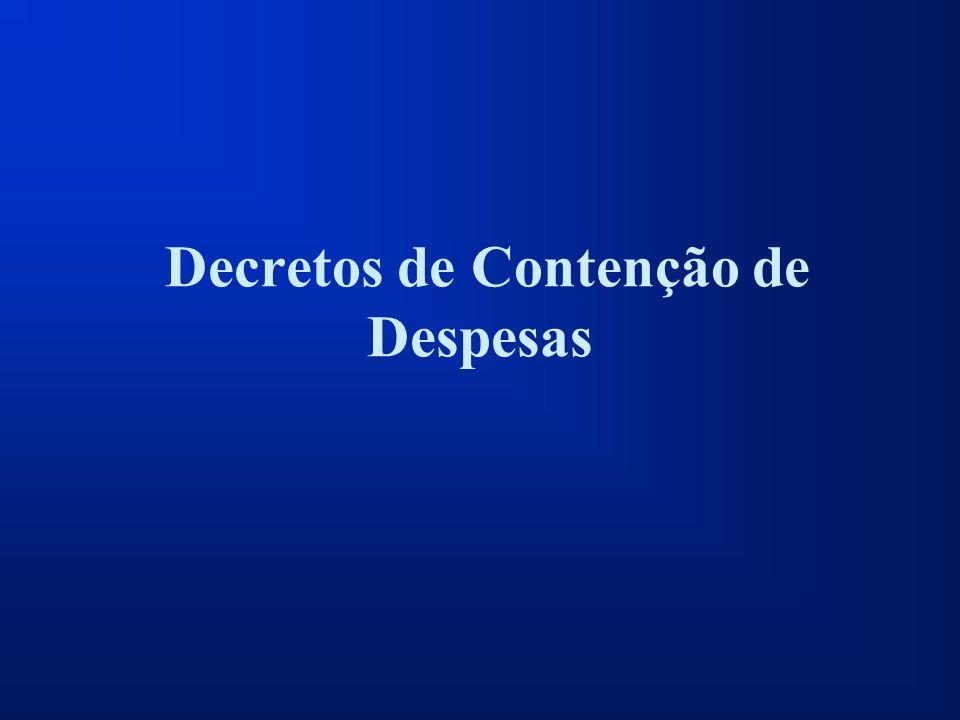 Decretos de Contenção de Despesas