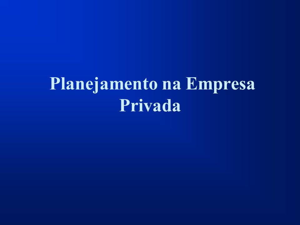 Planejamento na Empresa Privada