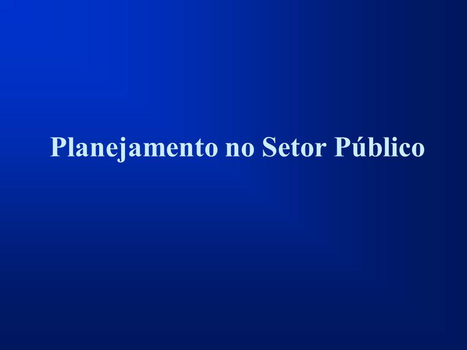 Planejamento no Setor Público