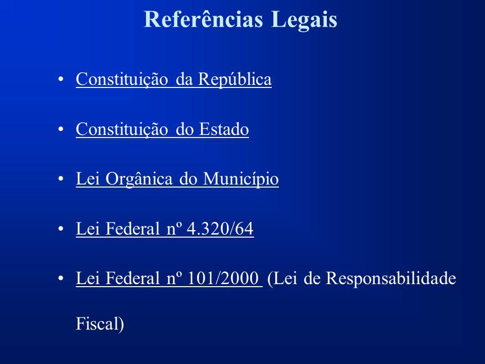 Referências Legais Constituição da República Constituição do Estado