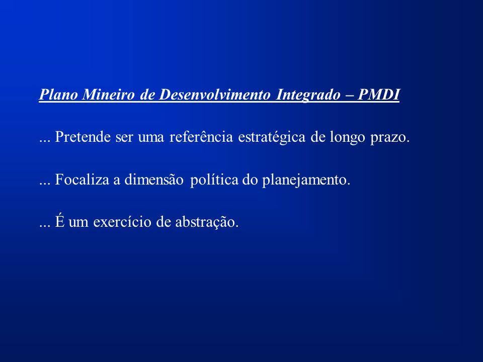 Plano Mineiro de Desenvolvimento Integrado – PMDI