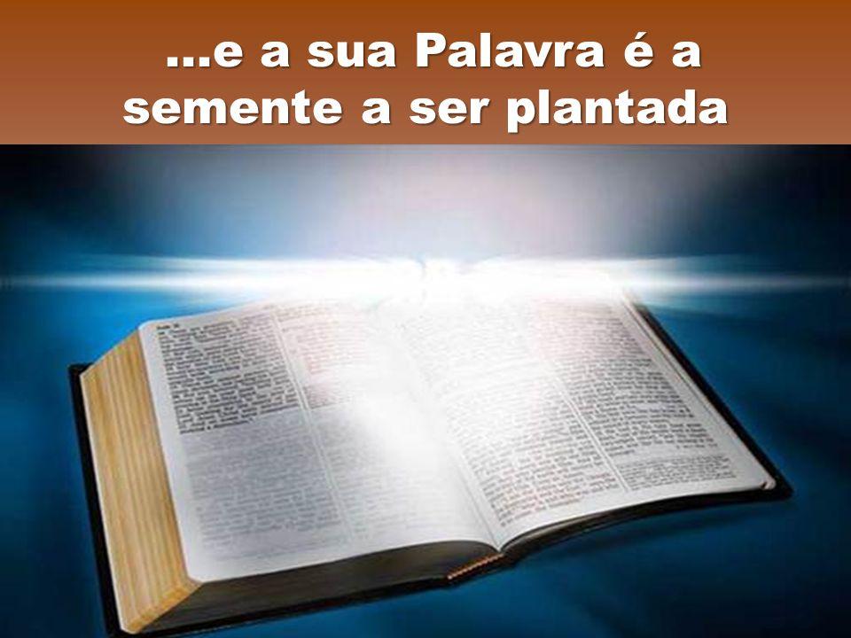 ...e a sua Palavra é a semente a ser plantada