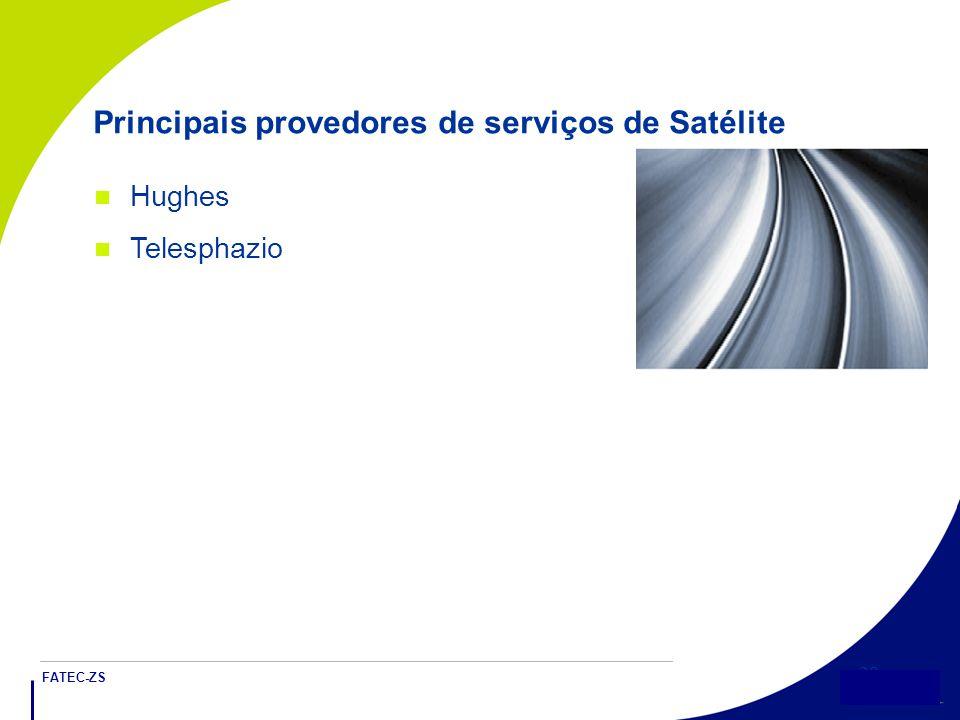 Principais provedores de serviços de Satélite