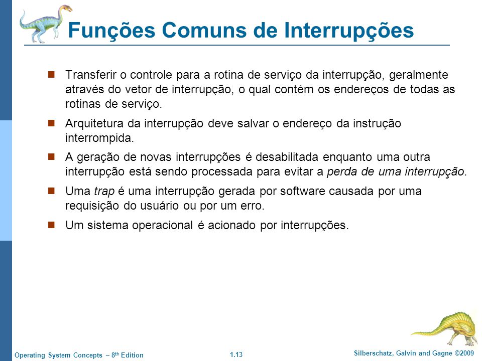 Funções Comuns de Interrupções