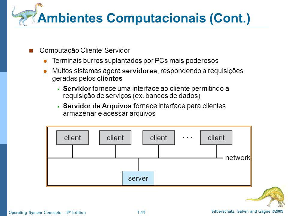 Ambientes Computacionais (Cont.)