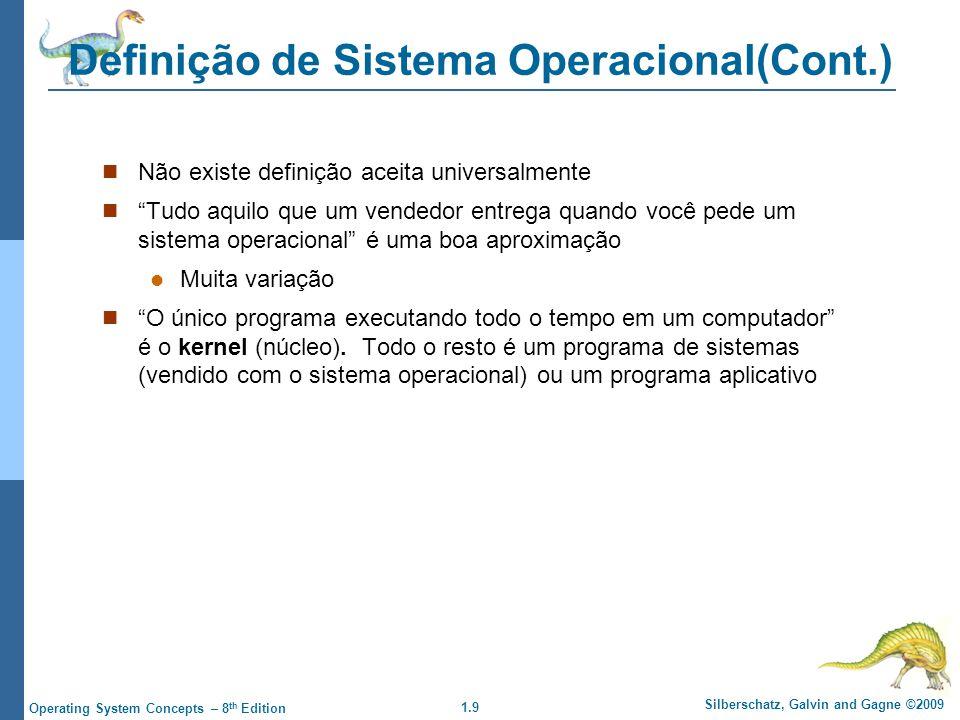 Definição de Sistema Operacional(Cont.)