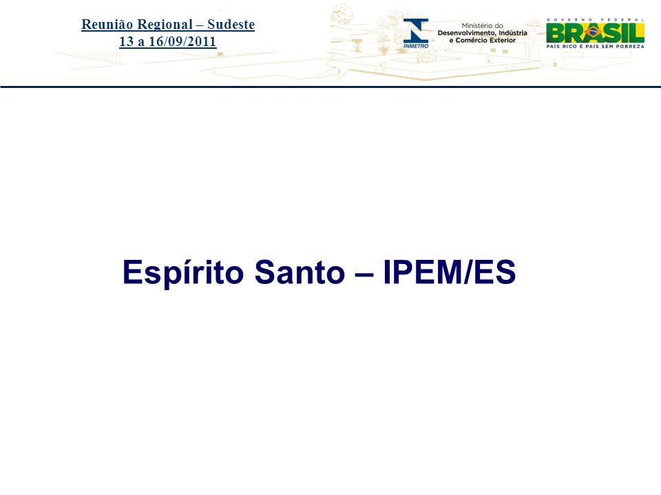 Reunião Regional – Sudeste Espírito Santo – IPEM/ES