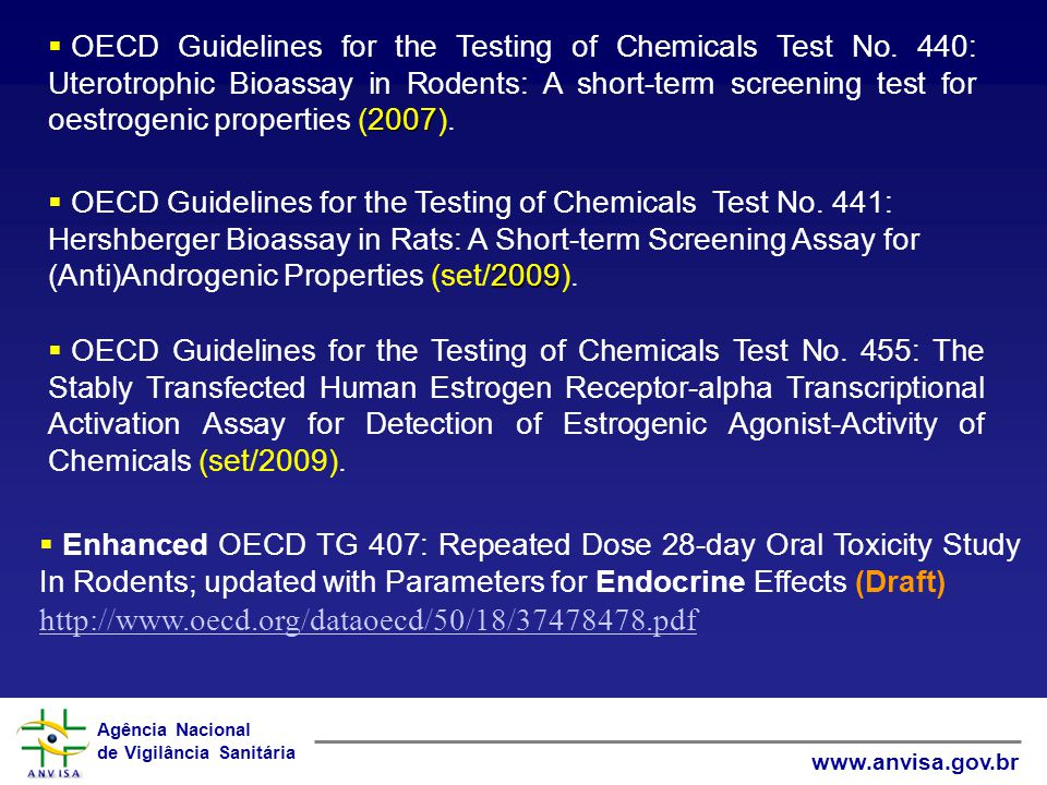 OECD Guidelines for the Testing of Chemicals Test No