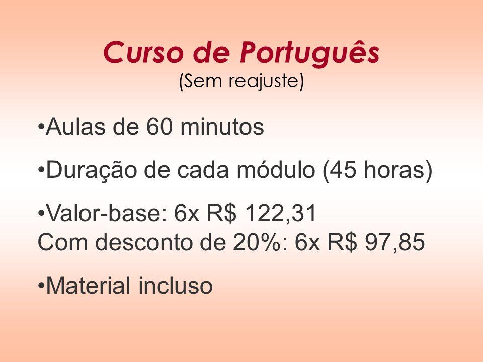 Curso de Português (Sem reajuste)