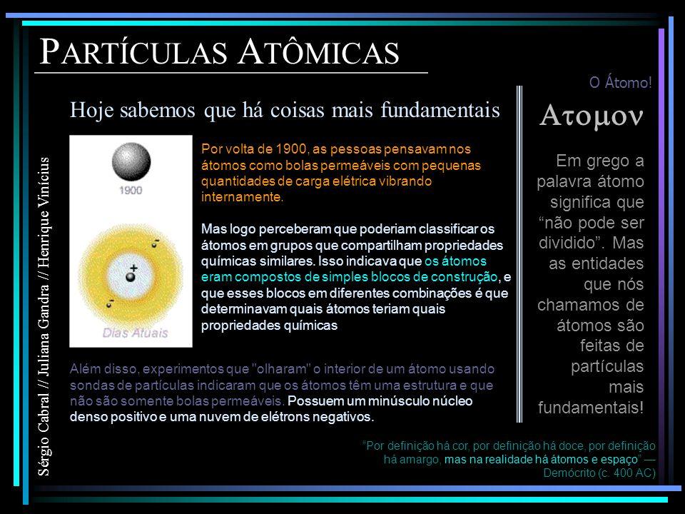 PARTÍCULAS ATÔMICAS Atomon